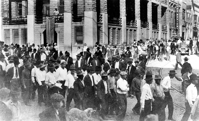 Bisbee Deportation, 1917.  Courtesy University of Arizona Library web exhibits.